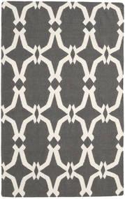 Kilim Modern Rug 150X239 Authentic  Modern Handwoven Dark Grey/Beige (Wool, India)