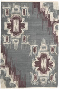 Kilim Modern Rug 162X241 Authentic  Modern Handwoven Light Grey/Dark Grey (Wool, India)