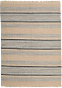 Kilim Modern Rug 165X232 Authentic  Modern Handwoven Light Brown/Light Grey (Wool, India)