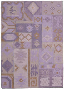 Kilim Modern Rug 172X228 Authentic  Modern Handwoven Light Pink/Light Purple (Wool, India)
