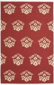 Kelim Modern Teppich  157X245 Echter Moderner Handgewebter Dunkelrot (Wolle, Indien)