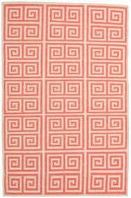 Kelim Moderne Tæppe 153X235 Ægte Moderne Håndvævet Lyserød/Beige/Orange (Uld, Indien)