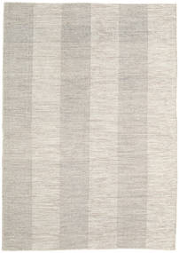 Kilim Modern Rug 157X222 Authentic  Modern Handwoven Light Grey/Light Brown (Wool, India)