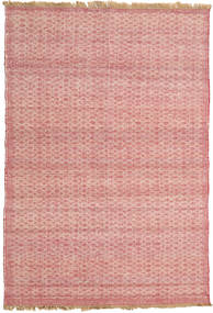 Kelim Moderni Matto 138X220 Moderni Käsinkudottu Vaaleanpunainen/Tummanbeige (Villa, Intia)