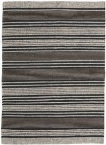 Kelim Moderne Tapijt 138X196 Echt Modern Handgeweven Donkergrijs/Zwart/Lichtgrijs (Wol, India)