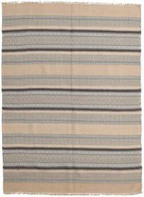 Kilim Modern Rug 163X220 Authentic  Modern Handwoven Light Brown/Light Grey (Wool, India)