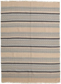 Kilim Modern Rug 162X223 Authentic  Modern Handwoven Light Brown/Light Grey (Wool, India)