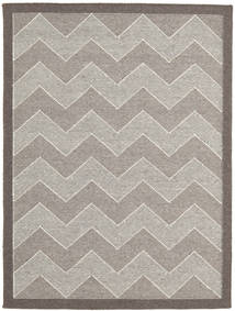 Kilim Modern Rug 144X192 Authentic  Modern Handwoven Light Grey/Dark Grey (Wool, India)