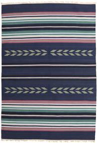 Kelim Moderní Koberec 163X235 Moderní Ruční Tkaní Tmavě Fialová/Tmavě Modrý (Vlna, Indie)