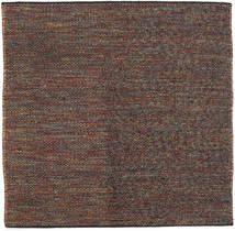 Kilim Moderno Alfombra 150X150 Moderna Tejida A Mano Cuadrada Marrón Claro/Negro (Lana, India)