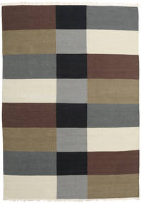 Kilim Modern Rug 172X244 Authentic  Modern Handwoven Light Brown/Dark Brown (Wool, India)