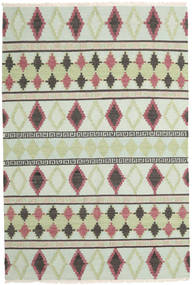 Kilim Modern Rug 162X242 Authentic  Modern Handwoven Beige/Light Green (Wool, India)
