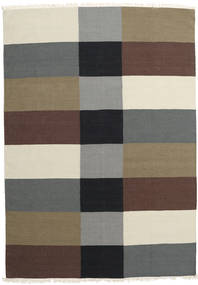 Kilim Modern Rug 173X247 Authentic  Modern Handwoven Light Brown/Dark Brown (Wool, India)
