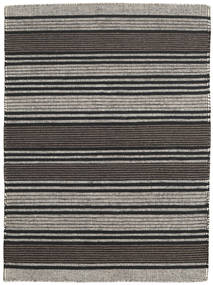 Kilim Modern Rug 140X192 Authentic  Modern Handwoven Dark Grey/Black/Light Grey (Wool, India)