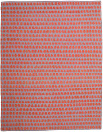 Kelim Moderne Vloerkleed 300X395 Echt Modern Handgeweven Lichtroze/Oranje Groot (Wol, India)