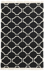 London - Black/Off White Rug 160X230 Authentic  Modern Handwoven Black/Beige (Wool, India)