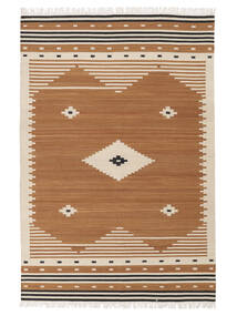 Tribal - Mustard Rug 160X230 Authentic  Modern Handwoven Light Brown/Brown (Wool, India)