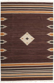 Tribal - Marron Tapis 200X300 Moderne Tissé À La Main Marron Foncé/Marron Clair (Laine, Inde)