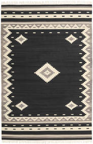 Tribal - Black Rug 200X300 Authentic  Modern Handwoven Black/Beige (Wool, India)