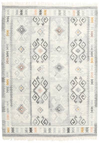 Mentra Rug 140X200 Authentic  Modern Handwoven Beige/Light Grey (Wool, India)