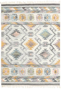 Mirza Rug 140X200 Authentic  Modern Handwoven Beige/Light Grey (Wool, India)