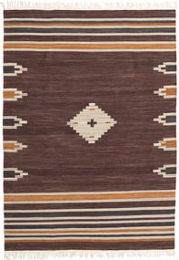 Tribal - Brown Rug 140X200 Authentic  Modern Handwoven (Wool, India)