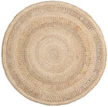 Kex - Natural Dywan 150X150 Nowoczesny Tkany Ręcznie Kwadratowy Jasnobrązowy/Ciemnobeżowy ( Indie)