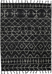 Moss Berber - Black Rug 275X370 Authentic  Modern Handknotted Black Large (Wool, India)