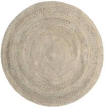 Kex - Greige Dywan 225X225 Nowoczesny Tkany Ręcznie Kwadratowy Jasnobrązowy ( Indie)