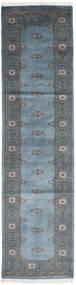 Pakistan Bokhara 2Ply Matto 78X302 Itämainen Käsinsolmittu Käytävämatto Tummanharmaa/Vaaleansininen (Villa, Pakistan)