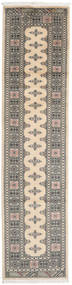 Pakistan Bokhara 2Ply Rug 76X309 Authentic  Oriental Handknotted Hallway Runner  Light Grey/Dark Grey/Beige (Wool, Pakistan)