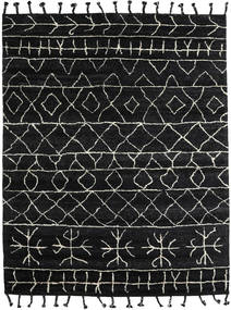 Moss Berber - Black Rug 240X300 Authentic  Modern Handknotted Black/Dark Grey (Wool, India)