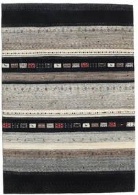 Gabbeh Loribaft Rug 137X198 Authentic  Modern Handknotted Black/Light Grey (Wool, India)