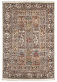 Bakhtiari Indo Rug 139X203 Authentic Oriental Handknotted Light Brown/Brown (Wool, India)