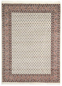 Mir Indo Rug 135X192 Authentic  Oriental Handknotted Beige/Light Brown (Wool, India)
