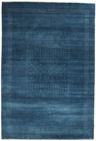 Gabbeh Loribaft Rug 149X220 Authentic  Modern Handknotted Dark Blue (Wool, India)