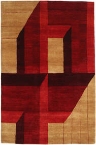 Gabbeh Loribaft Rug 121X185 Authentic  Modern Handknotted Dark Red/Brown (Wool, India)