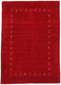 Gabbeh Indo Rug 119X168 Authentic  Modern Handknotted Crimson Red/Dark Red (Wool, India)