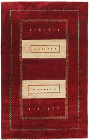Gabbeh Loribaft Rug 111X174 Authentic  Modern Handknotted Dark Red/Crimson Red (Wool, India)
