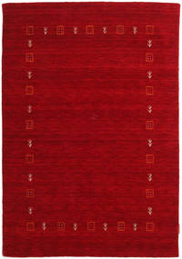 Gabbeh Indo Rug 117X170 Authentic  Modern Handknotted Dark Red/Crimson Red (Wool, India)