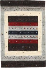 Gabbeh Loribaft Szőnyeg 121X183 Modern Csomózású Sötétbarna/Világosszürke (Gyapjú, India)