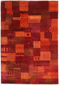 Gabbeh Loribaft Rug 124X179 Authentic  Modern Handknotted Rust Red/Dark Red (Wool, India)