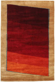 Gabbeh Loribaft Rug 119X181 Authentic  Modern Handknotted Dark Red/Light Brown (Wool, India)