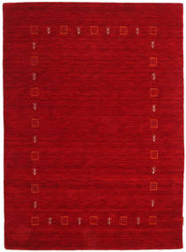 Gabbeh Indo Rug 122X168 Authentic  Modern Handknotted Crimson Red/Dark Red (Wool, India)