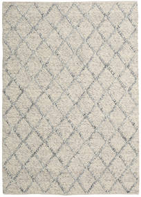 Rut - Silver/Grey Melange Rug 160X230 Authentic  Modern Handwoven Light Grey/Dark Beige (Wool, India)