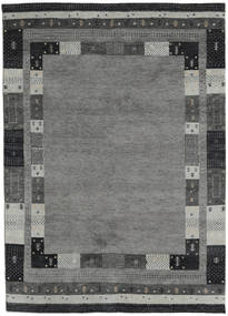 Gabbeh Indo Rug 173X241 Authentic  Modern Handknotted Dark Grey/Light Grey (Wool, India)