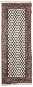 Mir Indo Rug 85X396 Authentic Oriental Handknotted Hallway Runner Light Brown/Dark Brown (Wool, India)