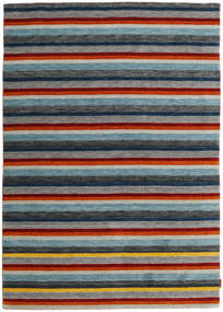 Gabbeh Indo Rug 167X237 Authentic  Modern Handknotted Dark Grey/Light Grey (Wool, India)