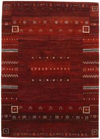 Gabbeh Loribaft Matta 142X200 Äkta Modern Handknuten Mörkröd/Mörkbrun (Ull, Indien)