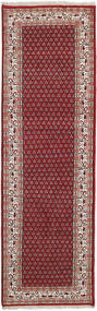 Mir Indo Rug 76X246 Authentic  Oriental Handknotted Hallway Runner  Dark Red/Brown (Wool, India)